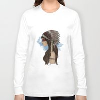 native american Long Sleeve T-shirts featuring Native american by Erika Leiva