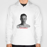 tom hiddleston Hoodies featuring Tom Hiddleston as Coriolanus by OnaVonVerdoux