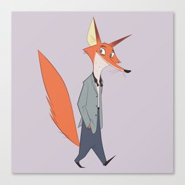 Posh Fox Canvas Print