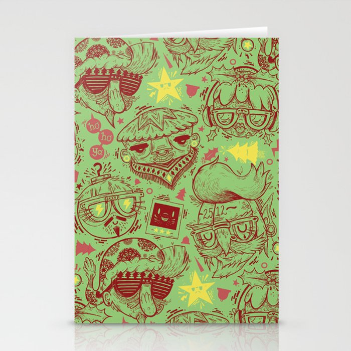 Have a Hipster Christmas! Stationery Cards by burlisaurus | Society6