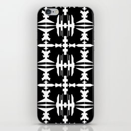 Abstract dance- Black and whit abstract print iPhone Skin