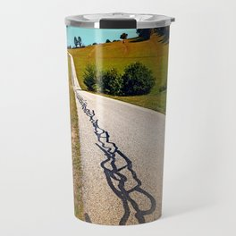 Traces of the tarmac worms Travel Mug