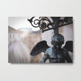 Poised Angel Detail Metal Print
