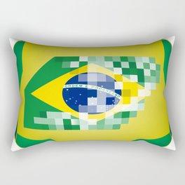 Football ball with Brazil flag Rectangular Pillow