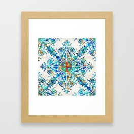 Colorful Pattern Art - Color Fusion Design 6 By Sharon Cummings Framed Art Print