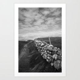 Beat a Path Mayo bw Art Print
