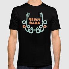 Trust Game. MEDIUM Black Mens Fitted Tee