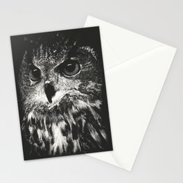 Owl Scratchboard Stationery Cards