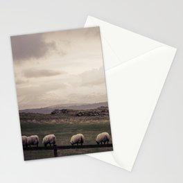 Sheep Grazing Jura Snow Stationery Cards