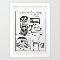College Boyfriend Art Print