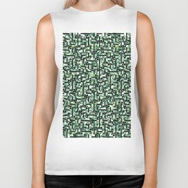 shapes and leaves Biker Tank