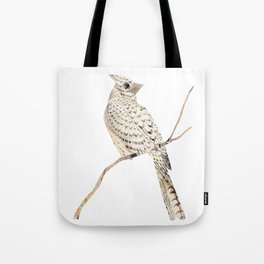 Winter Cardinal, collage Tote Bag