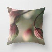 montana Throw Pillows featuring Montana Buds by Sandra Ireland Images