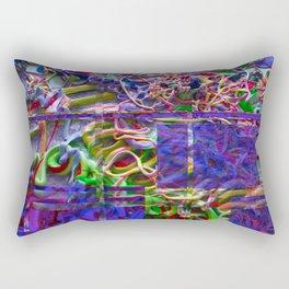 Alien Puke Glitch Rectangular Pillow