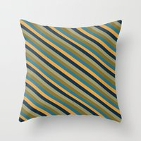 preppy Throw Pillows featuring Preppy No.2 by Farnell