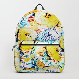 Yellow painted flowers Backpack