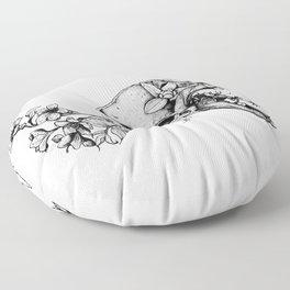 Prehistoric Bloom - The Cat Floor Pillow