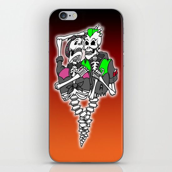 Psychobilly intertwined iPhone Skin