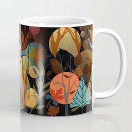 Trees and leaves in sun spots Coffee Mug