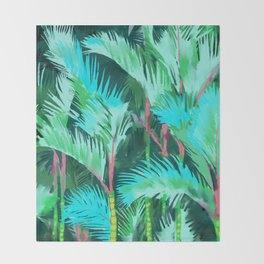 Palm Forest Throw Blanket