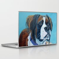 nori Laptop & iPad Skins featuring Nori the Therapy Boxer by Barking Dog Creations Studio