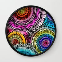 mandala Wall Clocks featuring mandala by goyye