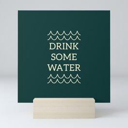 Water Reminder Yellow Text Colorway Mini Art Print