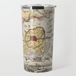 Map Of Frankfurt 1730 Travel Mug