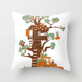 Mon arbre Throw Pillow