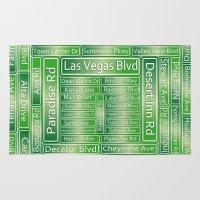 las vegas Area & Throw Rugs featuring Las Vegas Street Signs by Gravityx9
