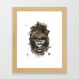 Gorilla - King of the Jungle Framed Art Print