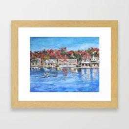 Boathouse Row, Philadelphia Framed Art Print