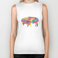 buffalo Biker Tanks featuring Buffalo by Jake Martin