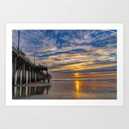 Low Tide Northside Sunset Art Print