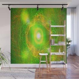 Green Pulsar Radiant Wall Mural