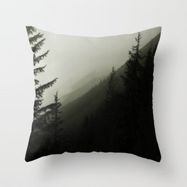 Rolling Mist Throw Pillow