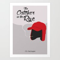 catcher in the rye Art Prints featuring THE CATCHER IN THE RYE by Kiwi Punk