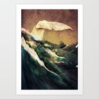 moby Art Prints featuring Moby Dick by Rachael Shankman