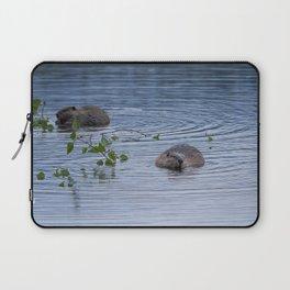 Beavers at Breakfast Laptop Sleeve