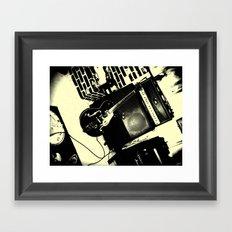 Shockin' White Light Guitar Framed Art Print