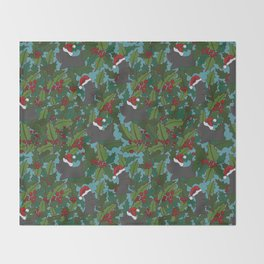 Christmas Dog Pattern Throw Blanket