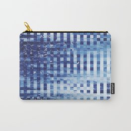 Nautical pixel abstract pattern Carry-All Pouch