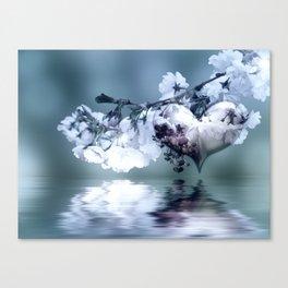Frühlingsherz blue Canvas Print