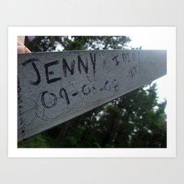 Jenny I did it! Art Print