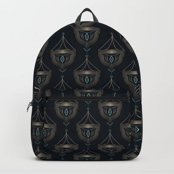 "Art Deco . ""Gold pendants "". Backpack"