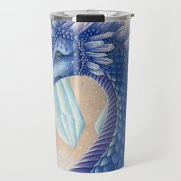 Ice Crystal Dragon Travel Mug