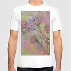 Spring Into Life Mens Fitted Tee MEDIUM White