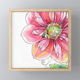 """bee light-hearted"" (no text) botanical watercolor art Framed Mini Art Print"