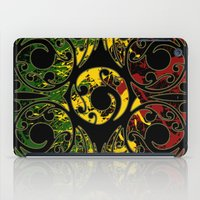 maori iPad Cases featuring Rasta Colors on Maori Patterns by Lonica Photography & Poly Designs