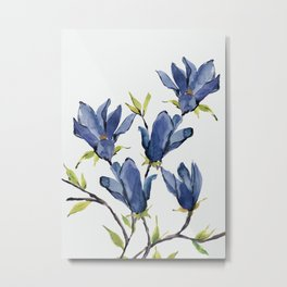 Blue Flowers 3 Metal Print